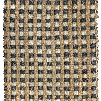 Mixed Jute Weaves Area Rug in Grey and Natural design by Classic Home