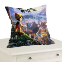 "Disney Pinocchio Decorative Throw Pillow Case Cushion 16 ""18""20"" Cover"