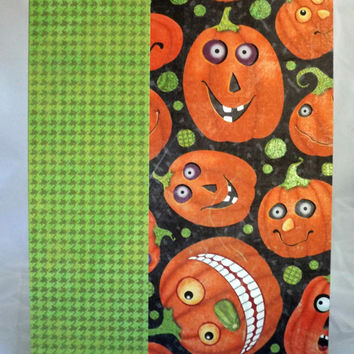 Halloween Card Jack O Lantern Card Pumpkin Card Hand Made Card Handmade Halloween Card Kraft Paper Card Halloween Not So Scary Halloween