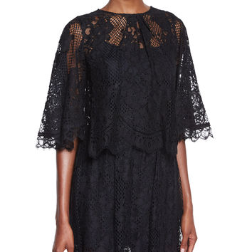 Giana Lace Top, Black, Size: