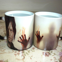 Drop shipping!The Walking Dead Mugs Coffee Tea Milk color changing Ceramic Mug cup
