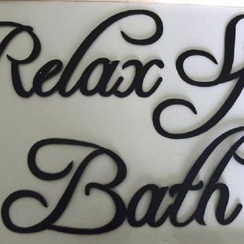 Spa Bath Relax Bath Words Metal Wall Art Home Decor