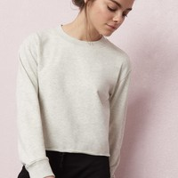 Crop Cut-Off Sweatshirt
