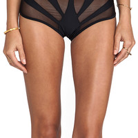 LEE + LANI The Amalfi Cropped Bottom in Black