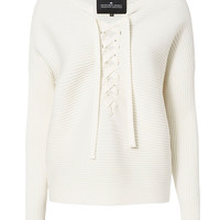Designers Remix CHARLOTTE ESKILDSEN Ribly Lace-Up Knit - INTERMIX®