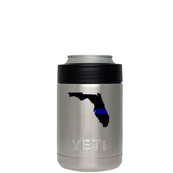 YETI Colster oz Police Thin Blue Line Over Florida