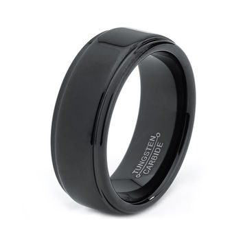 Black Tungsten Ring, Black Men Tungsten Rings, Black Wedding Bands, Black Mens Wedding Band, Black Men Wedding Band, Black Men Women Ring