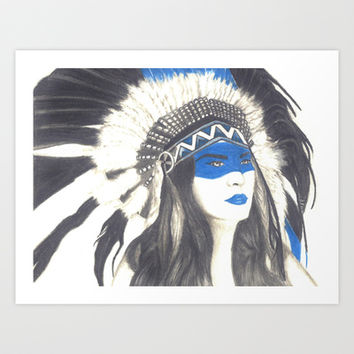 Headdress Art Print by TheAngelKid
