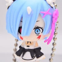 """Re: Zero Starting Life in Another World: """"Demon Form"""" Rem Figure Keychain Mascot ~ Rem """"Oni Form"""""""