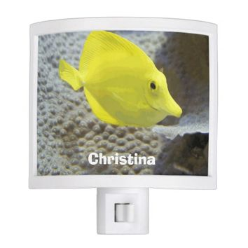 Cute Adorable Yellow Coral Fish Custom Nursery Night Light
