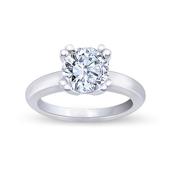 Huge 4.5 carats G I2 diamond solitaire engagement ring white gold 14K new