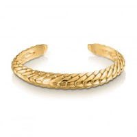 Pangolin Stacking Cuff in 18ct Yellow Gold - Patrick Mavros