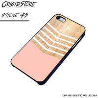 Chevron Pink Wood Wave Case For Iphone 4/4S Case