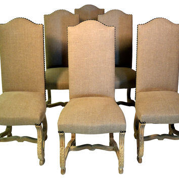 French Carved  Side Chairs, Set/6