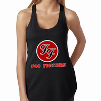 Foo Fighters Rock Band Logo Cool band ever BLACK Tank Top, Lady Women Fit Tee, Sweater Hoodie Tshirt Tank Top