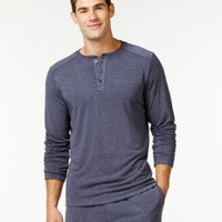 32 Degrees by Weatherproof Heat Comfort Long-Sleeve Henley | macys.com