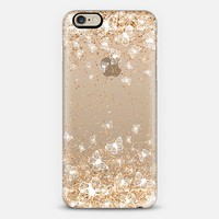White Butterflies and Gold Sparkles Burst iPhone 6 case by Organic Saturation | Casetify