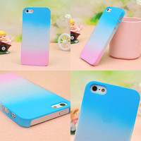 Colourful Gradient Frosted Hard Cover Case For Iphone 4/4s/5