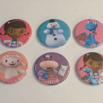 Doc McStuffins Magnet Set of 6 - Birthday Party Favors - Pinata Prizes