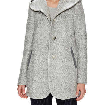 Meagan Wool Blend Hooded Coat