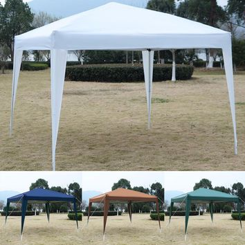 "GOPLUS 10"" X10"" EZ POP UP Canopy Tent Gazebo Wedding Party Shelter Carry Bag New  OP2830"