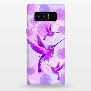 Hummingbird Spirit Purple Watercolor - StrongFit Galaxy Note 8 Cases | ArtsCase