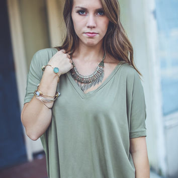 Short Sleeve Piko in Light Olive