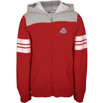 Ohio State Buckeyes - Game Day Stripes Girls Youth Zip Hoodie