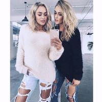 Kaywide Hot Autumn Winter Knitted Warm Sweater Women Long Sleeve Cashmere Pullover Women's Sweater Femme Casual Elastic Jumpers