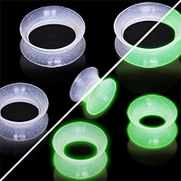 Glow in the Dark Ultra Thin Earskin Tunnel Plug