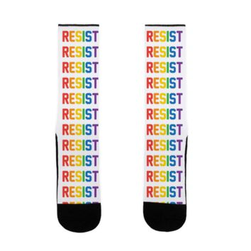 LGBTQ+ RESIST SOCK