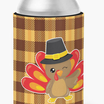 Thanksgiving Turkey Wink Can or Bottle Hugger BB7114CC