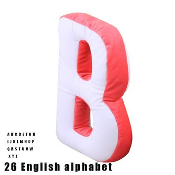 24 English Alphabet Letter Pregnancy Pillow Solid Travel 2018 New Soft for Kids Anti-Apnea Pillow