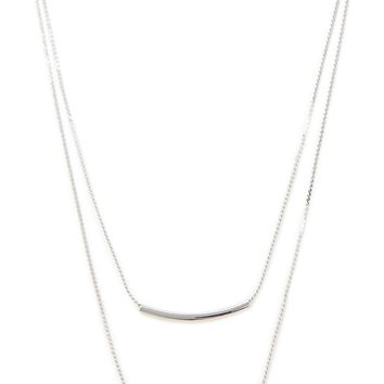 Tiered Bar Pendant Necklace