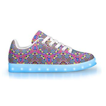 8-Bit Trip by Sam and Cate Farrand - APP Controlled Low Top LED Shoe