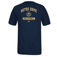 adidas Notre Dame Fighting Irish Sports Arch Volleyball T-Shirt - Navy Blue