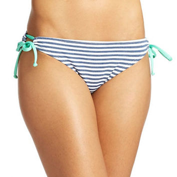 Splendid Striped Side-Tie Tunnel Bikini Bottom