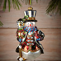 MacKenzie-Childs Jolly Snowman Christmas Ornament
