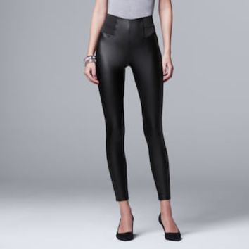 Women's Simply Vera Vera Wang Faux Leather Leggings | null