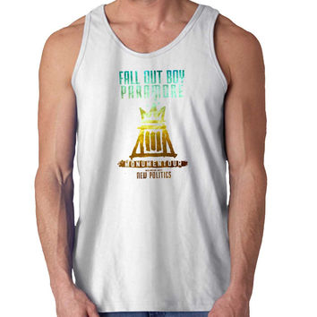 fall out boy cover For Mens Tank Top Fast Shipping For USA special christmas ***