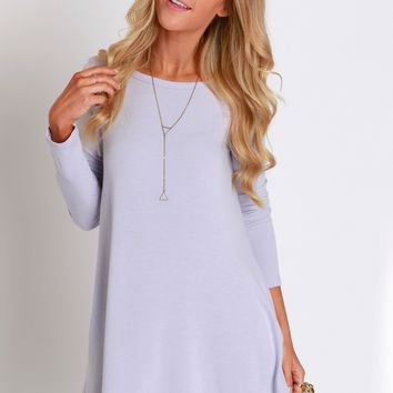 Long Sleeve Swig Dress Lavender