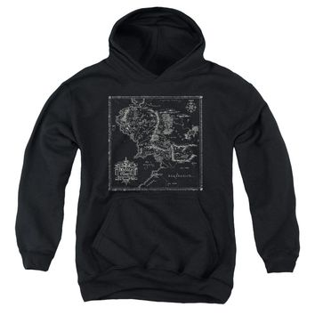 Lord Of The Rings - Map Of Me Youth Pull Over Hoodie