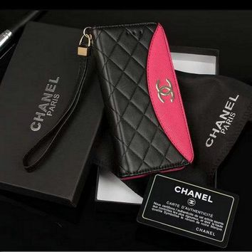 Chanel Fashion PU iPhone Phone Cover Case For iPhone X iphone6/6s/7/8/plus