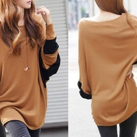 Hot Sexy Mommy Maternity Loose Tops Blouse Bat Sleeve Motherhood Women Pregnant Tee = 1945792580