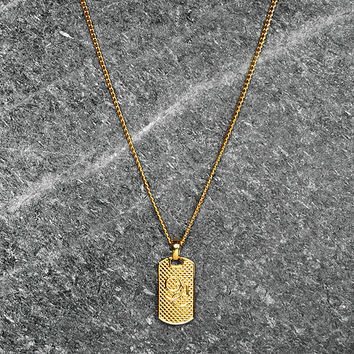 Men's Novem Dog Tag Chain
