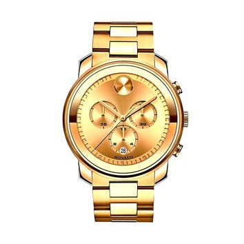 Movado Bold  Yellow Gold Stainless Steel Chronograph Quartz Men's Watch