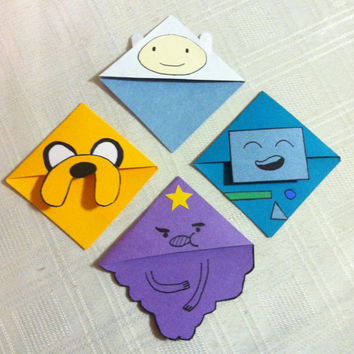 Adventure Time Corner Bookmark