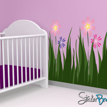 Graphics Wall Decal Grass Flower #AC104