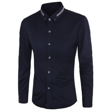 Casual Button-down Long Sleeves includes Plus Size Shirts For Men
