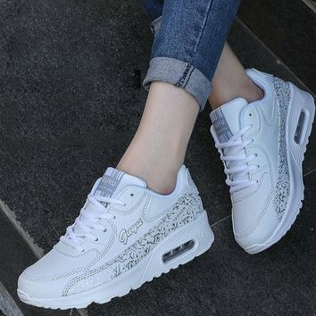 2017 Fashion Platform Women Casual Shoes White Female Shoes Women Trainers Outdoor Wal